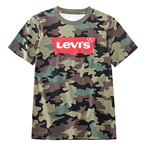 (Levi's Boys' Toddler Classic Batwing T-Shirt, Cypress camo, 3T )
