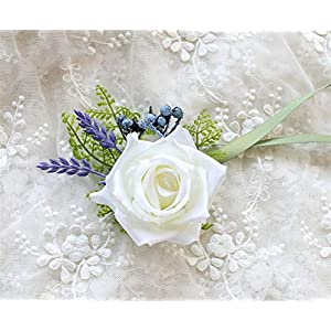 MOJUN Roses Wrist Flower Corsage Flower for Wedding Prom Party 110