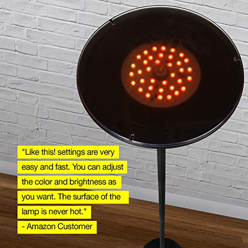 Brightech Kuler Color Changing Floor Light - Remote Control via iOs & App Living & Bedrooms Pivoting -