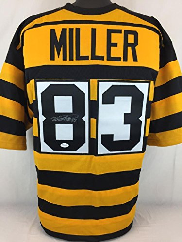 HEATH MILLER SIGNED AUTOGRAPHED JERSEY JSA COA STEELERS