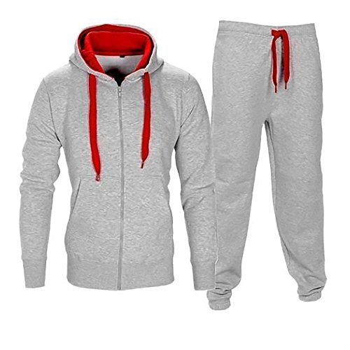 Love My Fashions Mens Tracksuit Set Fleece Hoodie Top Bottoms Jogging Joggers Gym Sweat Suit Pants Size S L 2XL 5XL