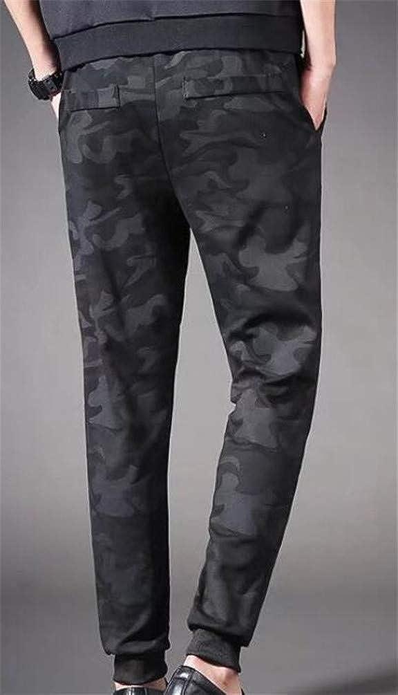 Sweatwater Mens Casual Harem Pocket Drawstring Elastic Waist Padded Fleece Jogger Pants