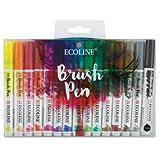 Royal Talens Ecoline Liquid Watercolor Brush Pen, Set of 15 Colors (11509003)