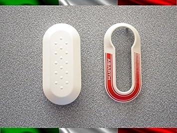 Abarth - Carcasa para llaves del coche - Apta para Fiat 500 ...