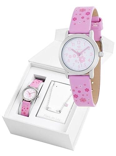 Conjunto reloj marea niña B35284/11 y nomeolvides plata de ley: Amazon.es: Relojes