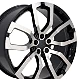 range rover 22 inch rims - 22x10 Wheels Fit Land Rover - Range Rover Style Rims - Black Mach'd Face - SET