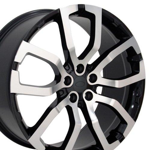 Range Rover Alloy Wheel (22x10 Wheels Fit Land Rover - Range Rover Style Rims - Black Mach'd Face - SET)