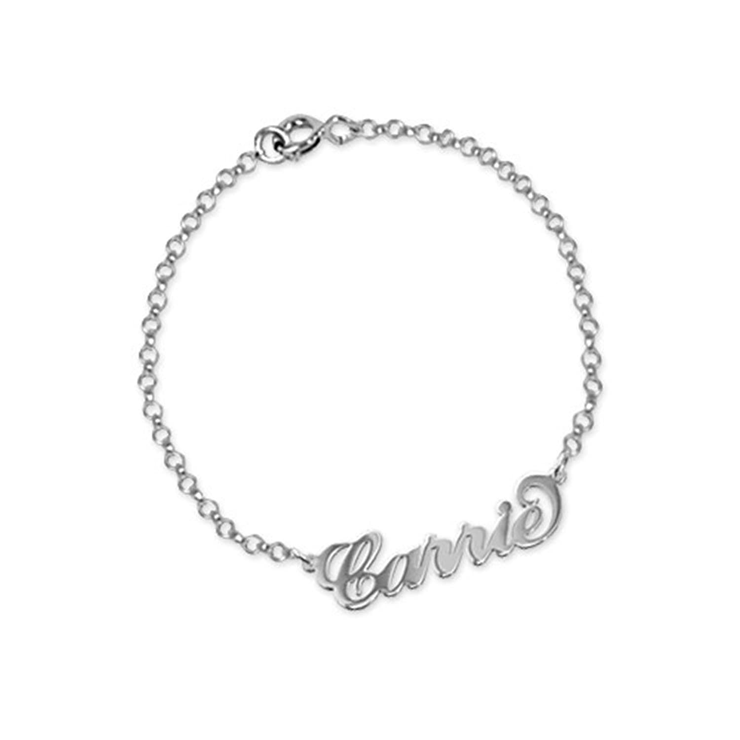 bracelet dp anklet gold name amazon with made sterling any missnity personalized plated silver jewelry custom com names anklets