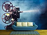 wall26 - Photo of an Old Movie Projector - Removable Wall Mural | Self-adhesive Large Wallpaper - 100x144 inches