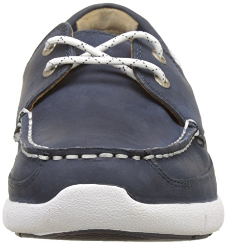 Sebago Kinsley Two Eye, Náuticos Para Hombre Azul (Navy Leather)