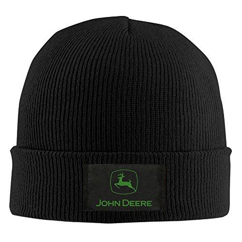 SOOSU Unisex John Deere Beanie Hat Black