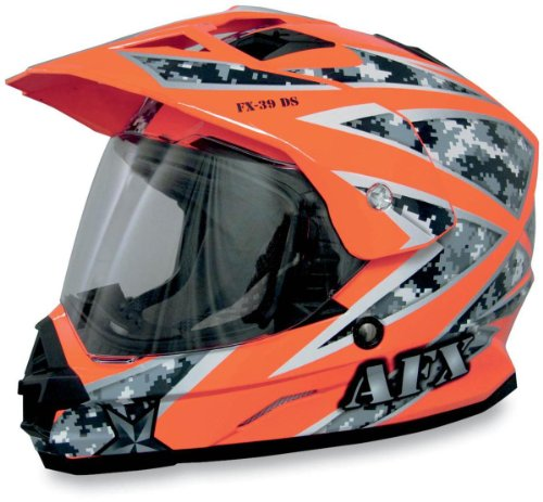 Afx Fx-39Ds Urban Camo Helmet Safety Orange Xl/X-Large
