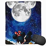 Mouse Pad Mickey and Minnie Computer Mouse Mat (7.1x8.7IN,18x22CM)