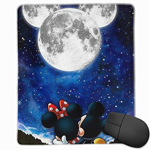 Mickey Mouse Pad - Mouse Pad Mickey and Minnie Computer Mouse Mat (7.1x8.7IN,18x22CM)