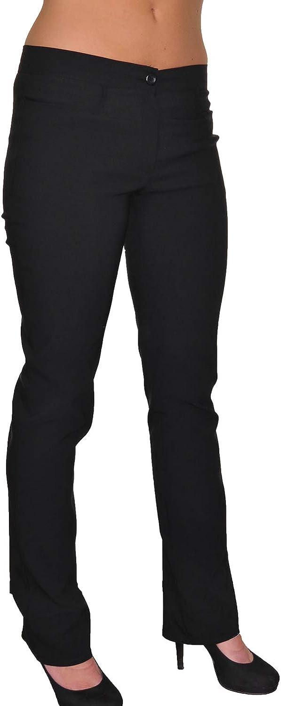ICE (1415-1) Pantalones de Trabajo Negro Ley expandibles con Bolsillos