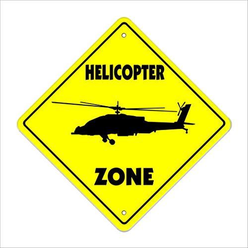 Rc Air Heli Radio (Helicopter Crossing Sign Zone Xing | Indoor/Outdoor | 20