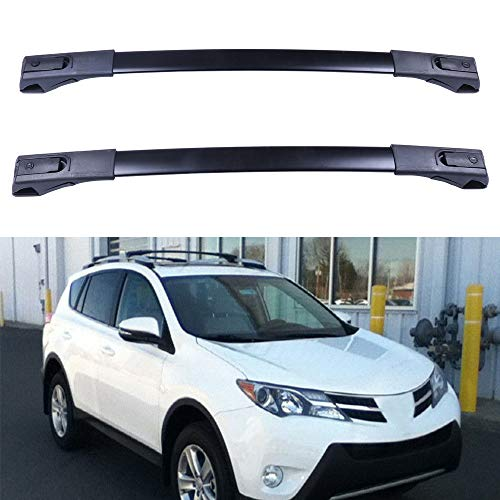(ECCPP Roof Rack Cross Bar Roof Rack Cross Bars Luggage Cargo Carrier Rails Fit for 2013-2016 Toyota RAV4 Sport Utility 2.5L,Aluminum)