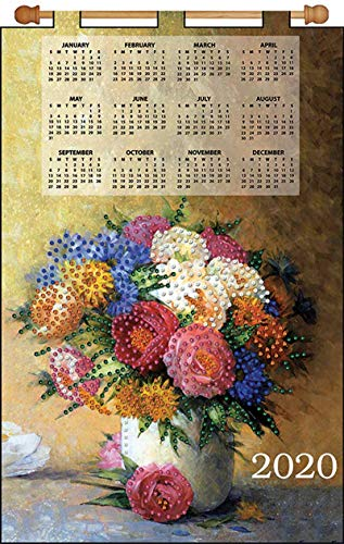 Design Works Jeweled Beads Kit Calendar 2020 ~ Majestic Floral