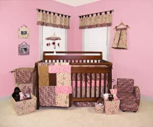Trend Lab 4 Piece Crib Bedding Set, Sweet Safari Pink