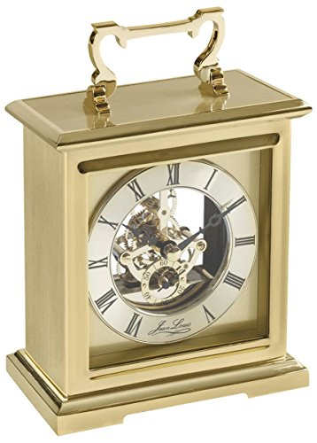 - Woodford Unisex Gold Plated Skeleton Quartz Carriage Clock - Gold