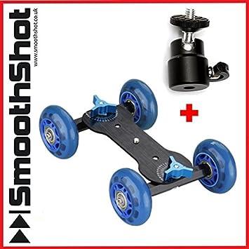Cámara Dolly coche rueda Roller Skater deslizante cámara con montura de trípode cabeza para DSLR SLR Cámaras de vídeo: Amazon.es: Electrónica