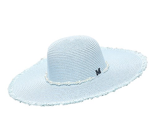 Heart .Attack Summer Straw Hat Small Fragrance M Standard Fringe Hat Sunscreen Sun Visor Beach Hat,Blue,M (Costumes For Sale South Africa)