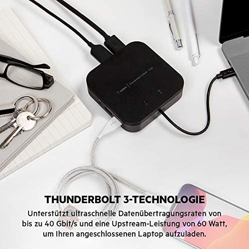 Belkin Thunderbolt 3 Dock Plus With 0 38m Thunderbolt 3 Computers Accessories