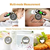 Medical Forehead and Ear Thermometer for Baby, Kids and Adults - Infrared Digital Thermometer with Fever Indicator, CE and FDA Approved