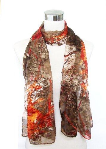 Silkcharm ACCESSORY レディース スカーフ US サイズ: Large カラー: ブラウン B0086LF0BY