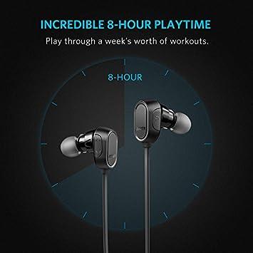 Auriculares Bluetooth, Anker SoundBuds Auriculares Intra-Auriculares, auriculares inalámbricos magnéticos con tiempo de reproducción de 8 horas y CVC 6.0 ...