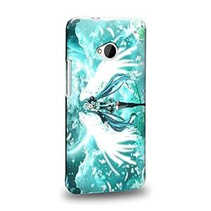 Case88 Premium Designs Vocaloid Miki Hatsune Miku 1171 Carcasa/Funda dura para el HTC One M7