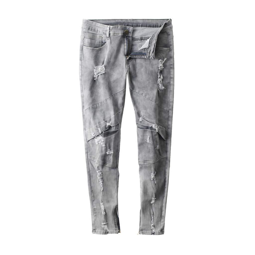 Hahashop2 - Pantalones vaqueros para hombre, ajustados ...
