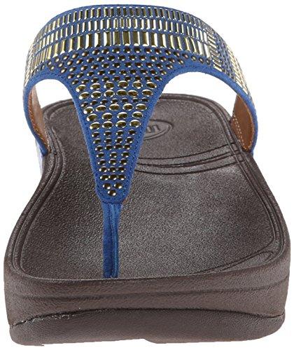 FitFlop Aztec Chada - Sandalias para mujer Azul (Blue)