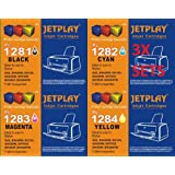 Jetplay 12x Compatible inks for Epson Stylus SX435W Double Capacity Compatible Printer Ink Cartridges - Black / Cyan / Magenta / Yellow - Multipack 3 sets (12 cartridges) of 1281-1284 Hi Capacity cartridges for SX130/SX235W/SX445W/Sx425W/S22/SX215 printers. High quality print. Reliable brand Jetplay Brand. Guaranteed quality and performance. Replacements for T01281/T01282/T01283/T01284