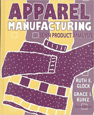 Sewn Product Analysis Apparel Manufacturing
