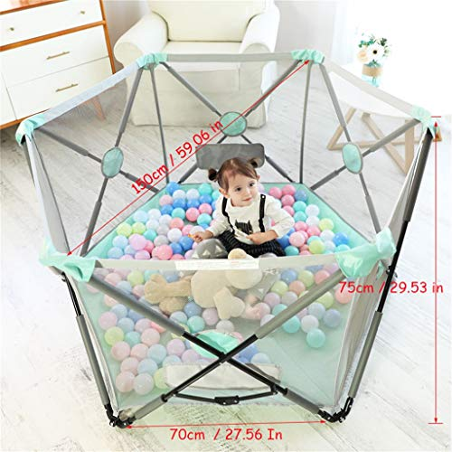 Playpen Tent Baby Safety Gate Portable & Travel Kids Ball Pit Playpen Ball Pool,Indoor and Outdoor Easy Folding Play House Play Space for Children Baby (Excluding The Ball) by CGF- Baby Playpen (Image #1)