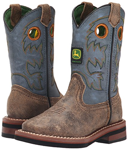 John Deere Children Pull-On Boot (Toddler/Little Kid),Brown/Blue,12 M US Little Kid