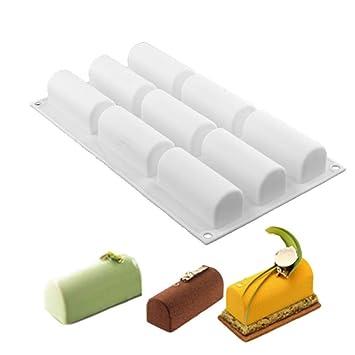 Nueva llegada blanco registro de rollo de silicona antiadherente molde delicado Chocolate postres Twinkie tea-time Cake Polvoron Filipinos Candy repostería ...