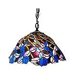 Chloe Lighting CH18052BF19-DH2 Natalie Tiffany-Style Iris Hanging Pendant Lamp with 19