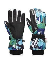 FengNiao Kids Ski Gloves Winter Windproof Waterproof Gloves Children Cycling Snowboard Running Gloves for Boys Girls