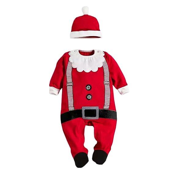 b452af0825590 Chic-Chic Père Noël Déguisement Grenouillère Barboteuse Bonnet Enfant Bébé  Cosplay Combinaison Pyjama Christmas Ensemble