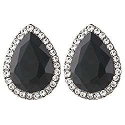 Women's Austrian Crystal Teardrop Stud Earrings