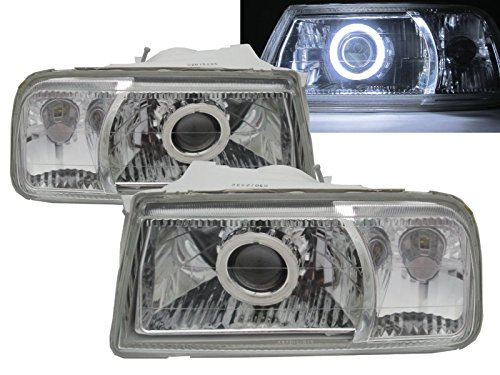CABI ET/TA Sidekick 1988 1998 First generation - Convertible SUV 2D/3D/5D CCFL Projector Headlight Headlamp Chrome V1 for SUZUKI LHD