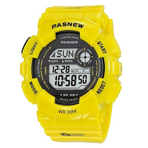 Yellow Girls Watch (Kid's Digital Watches, Sports Watch, Digital Watch Features Swim, Night-light, Waterproof Boys and Girls Watch (Yellow))