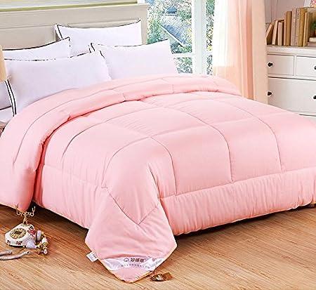 edredón Algodón algodón acolchado algodón de algodón largo de algodón acolchado edredones gruesos (Color : Pink , Tamaño : 8 Pounds 200x230) : Amazon.es: Hogar