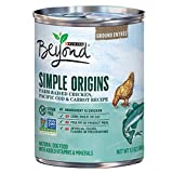 Purina Beyond Simple Origins Farm-Raised Chicken, Pacific Cod & Carrot Recipe Ground Entree Adult Wet Dog Food - Twelve (12) 13 oz. Cans