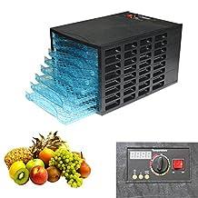 HomCom 05-0057 Deluxe 600W 8-Tray Food Dehydrator Fruit Electric Jerky Dry Blower Maker Black