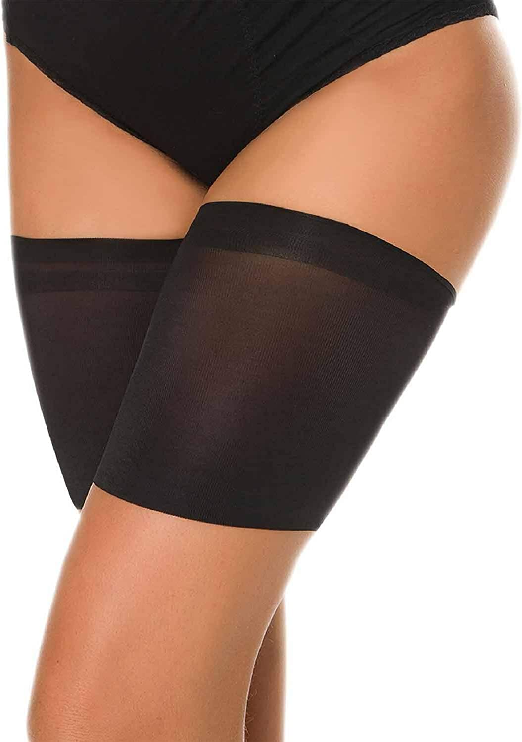 Tuopuda Anti Chafing Thigh Bands Unisex Thigh Guards Elastic Leg Bands Outdoor Sports Thigh Protector with Non Slip Satin Silicone Elastic Anti-chafing Thigh Bands Prevent Thigh Chafing