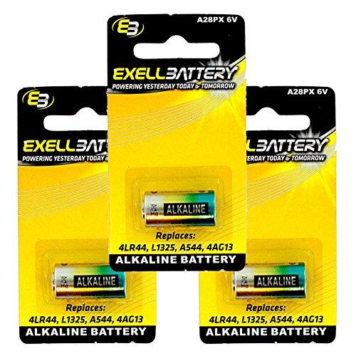 Innotek Remote (3x Exell A28PX Alkaline 6V Battery For Innotek CKC-25W Replaces PX28A, A544, 4LR44, K28A, V34PX, 7H34, 4NZ13, V4034PX, L1325, 4G13, 4034PX, PX28AB, 1414A FAST USA SHIP)