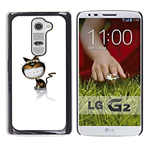 LECELL -- Funda protectora / Cubierta / Piel For LG G2 D800 D802 D802TA D803 VS980 LS980 -- Funny Cute Smile Cat --